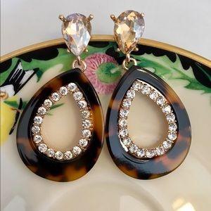 Jewelry - Lucite and rhinestone earrings